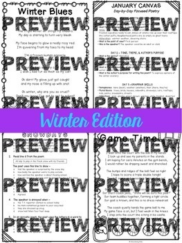 Focused Poetry 3rd Grade Bundle: Units 1, 2, and 3