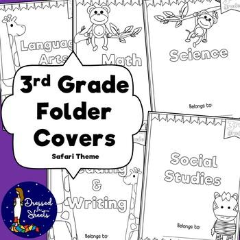 3rd Grade Folder Covers Safari Theme