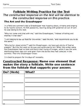 3rd Grade Folktale Writing Practice