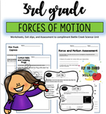 3rd Grade Force and Motion (Worksheets, Assessment, and Exit Slips)