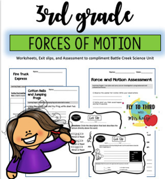 Force And Motion Worksheets   Teachers Pay Teachers