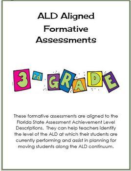 3rd Grade Formative Assessments Aligned to FSA Achievement Level Descriptions