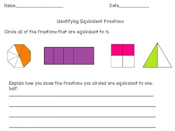 3rd Grade Fraction Assessment