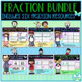 3rd Grade Fraction Bundle: 6 Resources - TEKS 3.3A, 3.3B, 3.3D, 3.3E, 3.3F, 3.3H