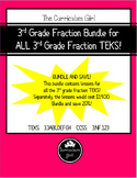 3rd Grade Fraction Bundle for ALL 3rd Grade Fraction TEKS!