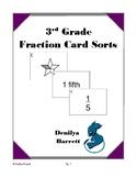 3rd Grade Fraction Card Sorts