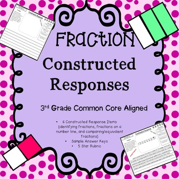 3rd Grade Fraction Constructed Response Questions