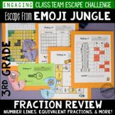 3rd Grade Fraction Review Escape Room    Fraction Test Prep
