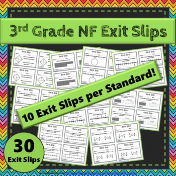3rd Grade Fraction Exit Slips: Fraction Exit Slips 3rd Grade