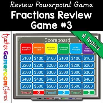 3rd Grade Fraction Jeopardy... by Teacher Gameroom | Teachers Pay ...