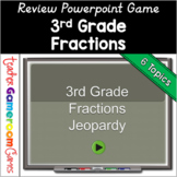 3rd Grade Fraction Review PowerPoint Game