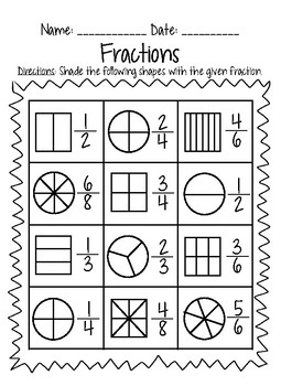 3rd Grade Fraction Practice by Miss B and Grade 3 | TpT