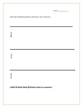3rd Grade Fraction Practice and Game