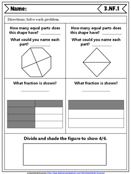 3rd Grade Fraction Quizzes: 3rd Grade Math Quizzes, Fractions (NF) Quizzes