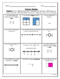 3rd Grade Fraction Review Activity