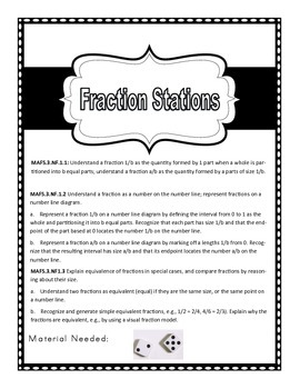 3rd Grade Fraction Stations