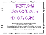 3rd Grade Fraction Task Cards & Memory Game ~ 3.NF.A.1