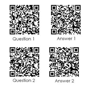 3rd Grade Fraction Task Cards with QR Codes