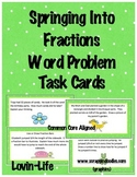 Fractions Word Problem Task Cards for Common Core Test Prep