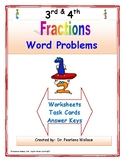 Fraction Word Problems 3rd & 4th  Grade Fractions  Common Core Standards