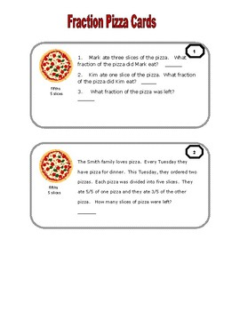 Fraction Word Problems 3rd Grade Fractions  Common Core Standards