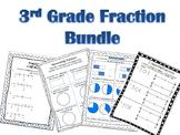 3rd Grade Fraction Worksheet Bundle
