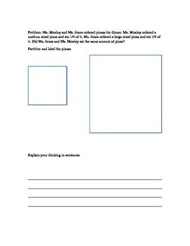 3rd Grade Fraction tasks