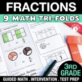 3rd Grade Fractions - 3.NF.1 - 3.NF.3 - Distance Learning