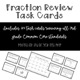 3rd Grade Fractions Test Prep Review Task Cards