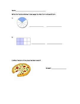 3rd Grade Fractions Assessment