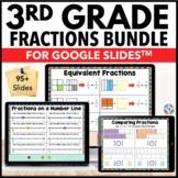 3rd Grade Fractions Bundle {3.NF.1, 3.NF.2, 3.NF.3, 3.NF.3D..} Google Classroom