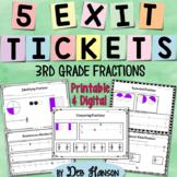 3rd Grade Fractions Exit Ticket Set {FREEBIE!}