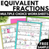 3rd Grade Fractions - Equivalent Fractions Worksheets Free