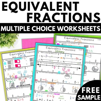 3rd Grade Fractions | Equivalent Fractions Worksheets Free ...