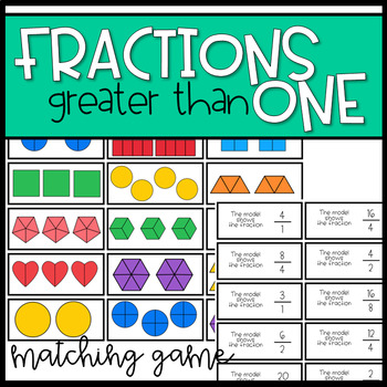 3rd Grade Fractions Greater than 1 Game