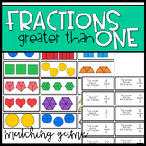Fractions Greater than 1 Matching Game