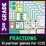 Fractions 3rd Grade: 10 math games for Common Core