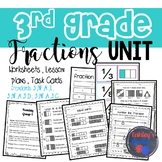 3rd Grade Fractions Unit Packet (3.NF.A.1, 3.NF.A.3.D, 3.NF.A.3.C)