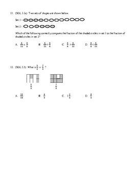 3rd Grade Fractions Unit Test