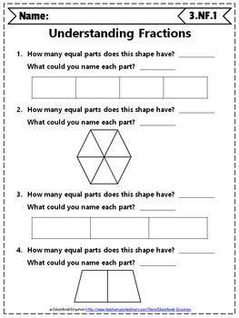 Grade Fractions Worksheets: 3rd Grade Math Worksheets, Fractions