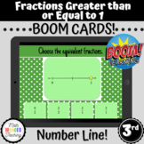 3rd Grade Fractions on Number Line Greater or Equal to 1 |