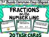 3rd Grade Fractions on a Number Line Task Cards