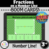 3rd Grade Fractions on a Number Line Task Cards | CCSS 3.N