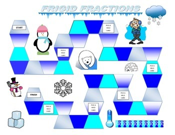 3rd Grade Frigid Fractions Game for Common Core