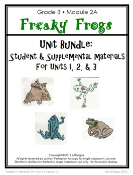 3rd Grade Frogs Module Printables BUNDLE:  Units 1-3