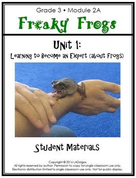 3rd Grade Frogs Module Printables:  Unit 1