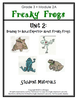 3rd Grade Frogs Module Printables: Unit 2