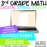 3rd Grade Full Year Math Spiral Review | Distance Learning