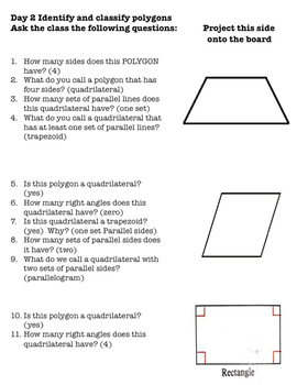 3rd Grade G.1 Geometry: Polygons, Quadrilaterals, Parallelograms