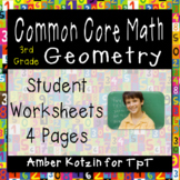 3rd Grade *GEOMETRY* Common Core Worksheets